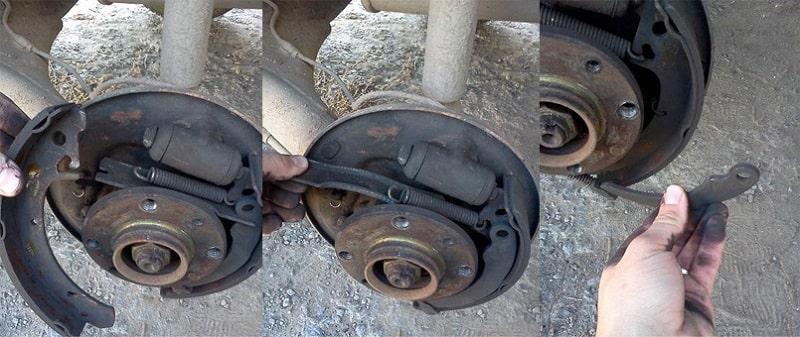 Замена передних колодок (дисковые тормоза)